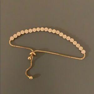 Gold Banana Republic Drawstring Bracelet
